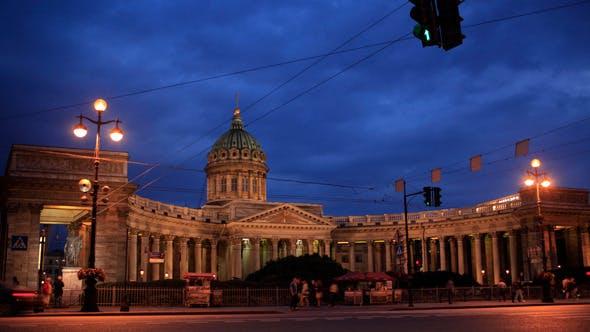 Thumbnail for Time Lapse  Of Traffic Near Kazan Cathedral
