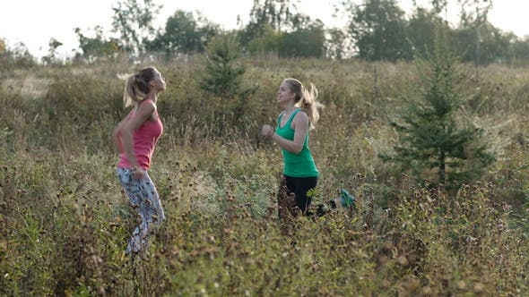 Two Girls Training 1