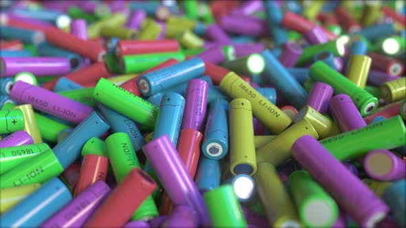 Thumbnail for Many Multicolor Lithium-ion Batteries