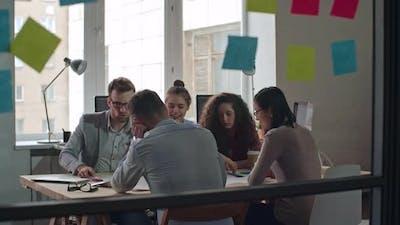Team Brainstorming in Meeting