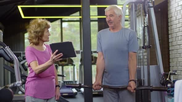 Thumbnail for Elderly Caucasian Man Exercising Using Barbell