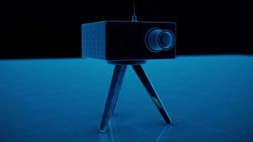 Speed Camera Radar Blue Hologram 4k