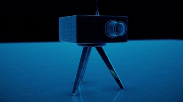 Speed Camera Radar Blue Hologram 4k