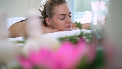Hot Stone Massage Treatment By Therapist in Spa