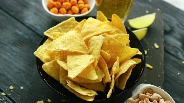 Thumbnail for Plate of Corn Chips with Nuts