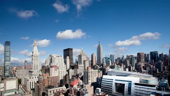Thumbnail for New York skyline manhattan NYC ny timelapse