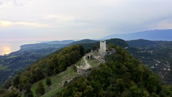 Thumbnail for Drone Shows Old Beauty of Anacopia Fortress and Amazing Black Sea with Long Coast Line Connecting