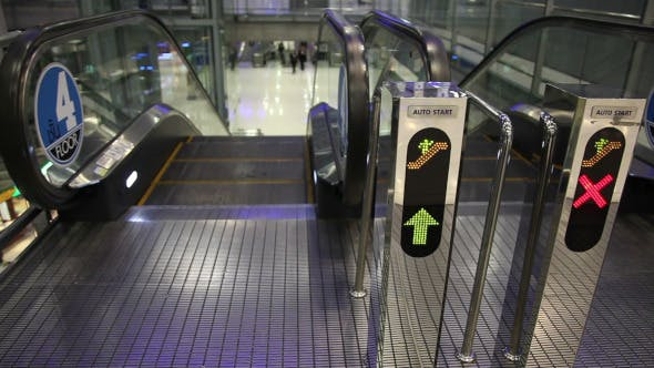 Thumbnail for Escalator Walkway In Airport