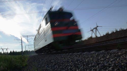 Lokomotive in Bewegung