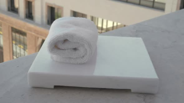 Fresh Facial Towels in Hotel or Spa