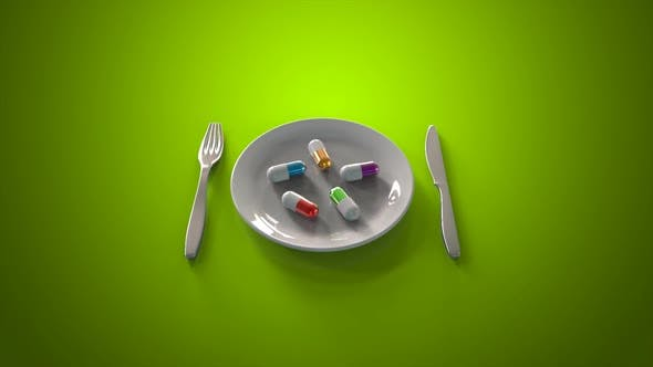 Thumbnail for Plate and pills