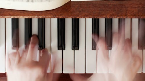 Playing The Piano in Blurred Motion