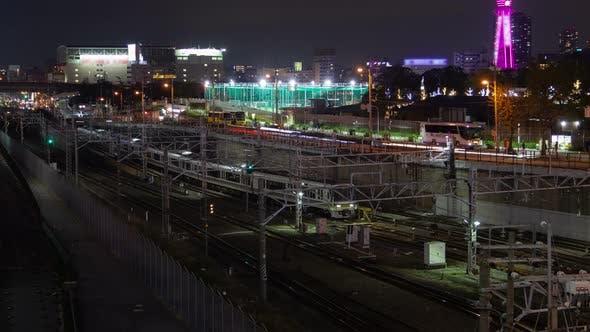 Thumbnail for Osaka Cityscape Railway Service Japan Timelapse