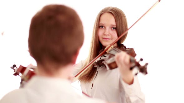 Thumbnail for Two Teenager Playing the Violins
