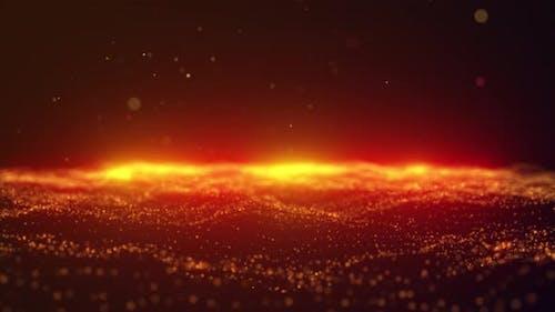 Golden Glitter Sparkling Magic Light