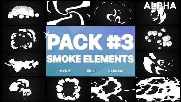 Thumbnail for Smoke Elements Pack 03 | Motion Graphics Pack