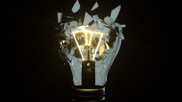 Thumbnail for Isolated Creative Idea Lightbulb Shatter