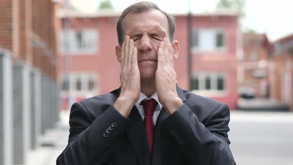 Thumbnail for Headache, Tense Middle Aged Businessman