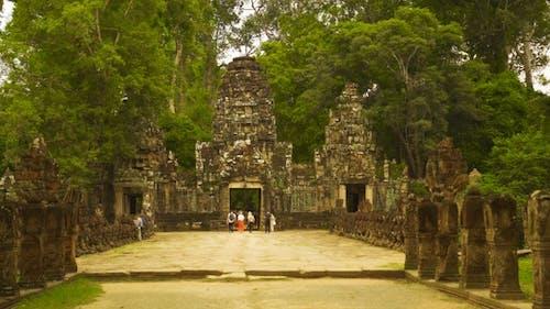 Gateway Entrance to Preah Khan Temple in Siem Reap