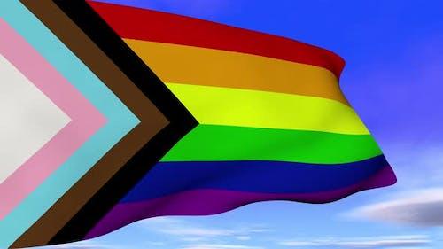 Lgbtq Rainbow Progress Flag