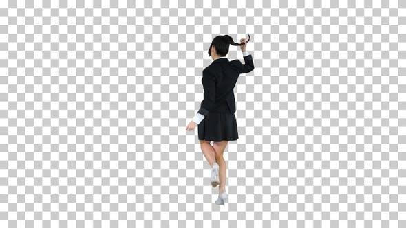 Thumbnail for School Girl Dancing, Alpha Channel