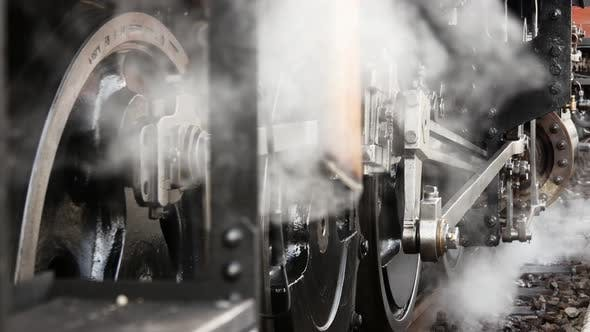 Thumbnail for Nostalgic Retro Scene of Old Steam Engine Locomotive Technology Revoltution