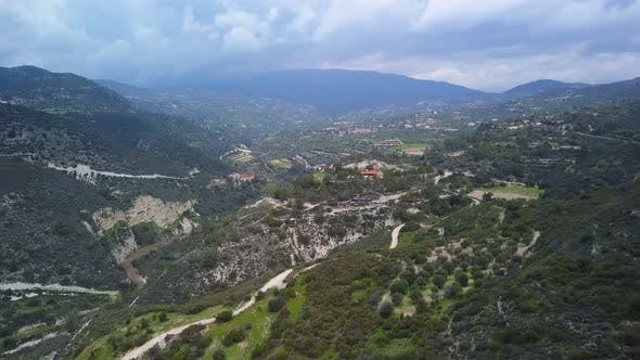 Thumbnail for Aerial View of Landscape in Mountains in Cyprus