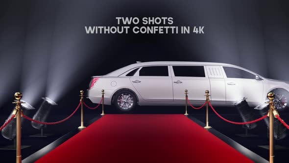 Red Carpet With a Limousinein