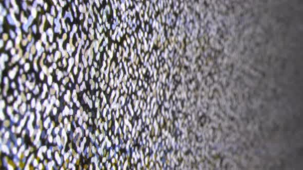 Real Analog TV Noize. TV No Signal, White Noise