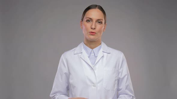 Female Doctor Having Video Call