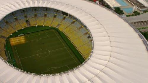 High-definition aerial shot of Maracana Stadium - World Cup, Brazil.