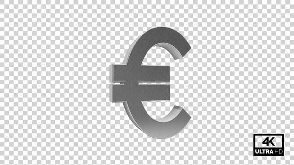 Thumbnail for Silver Euro Symbol Seamless Rotate