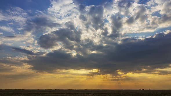 Thumbnail for Colorful Sunset Over Steppe