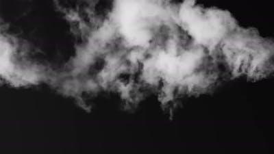 White Smoke Floating On A Black Background