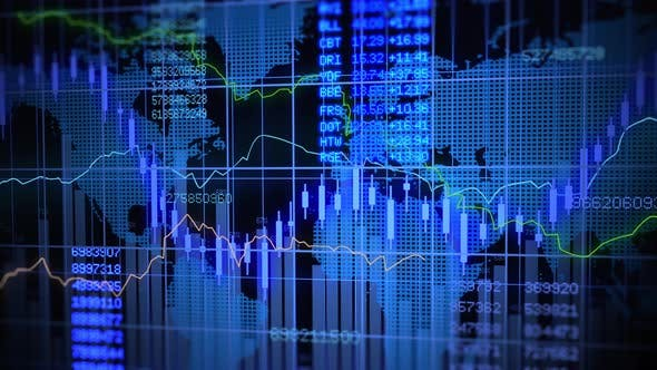 Thumbnail for Corporate Business Stock Exchange Market Trading Data Background