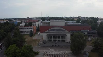 Cityscape of Tartu Town in Estonia