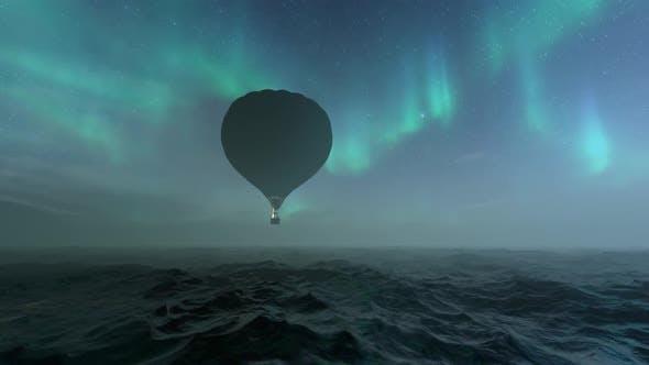 Gas Baloon (Aurora Background)
