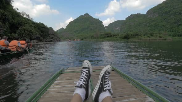 Thumbnail for Touristic Traveling By Boat in Trang An, Vietnam