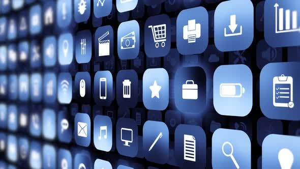 Thumbnail for Mobile Apps Icon Data Digital Technology Smart Phone Background Media
