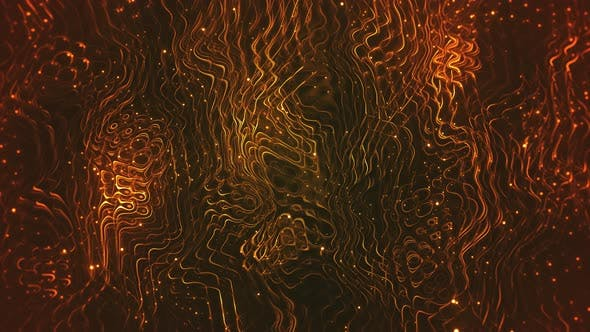 Thumbnail for Dark Gold Sparkling Flowing Background