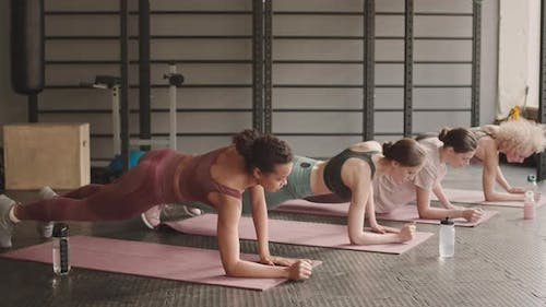 Women Getting Up and Down in Plank