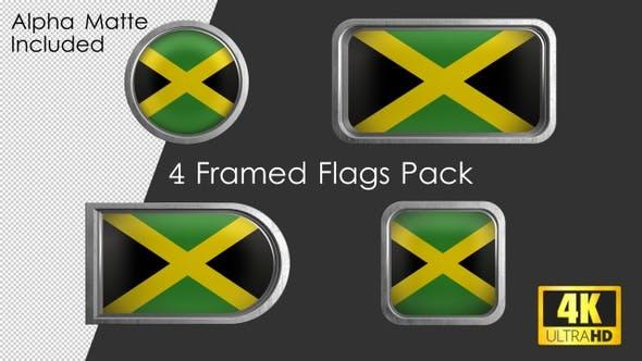 Framed Jamaica Flag Pack