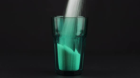 Thumbnail for Pour Sugar Green Collins Glass Thick Bottom Black Contrasting Background Concept