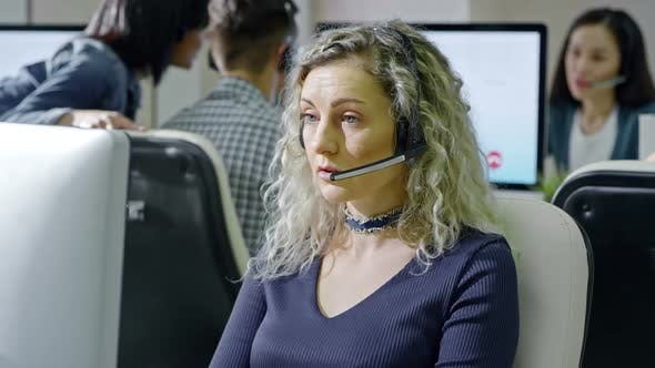 Cover Image for Female Call Centre Operator Working