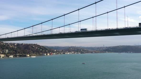 Thumbnail for Istanbul Bosphorus Bridge Aerial View 2