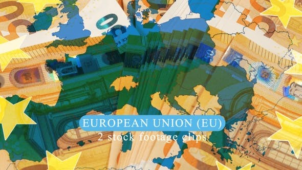 Cover Image for European Union Map over 50 Euros Banknotes