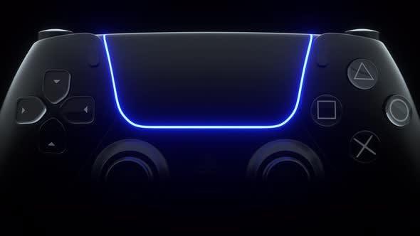 Wireless black gamepad