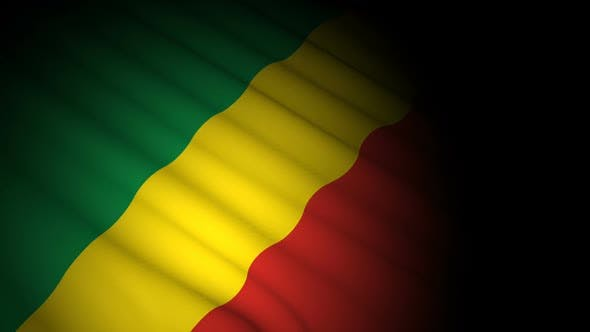 Cover Image for Congo Republic Flag Blowing in Wind
