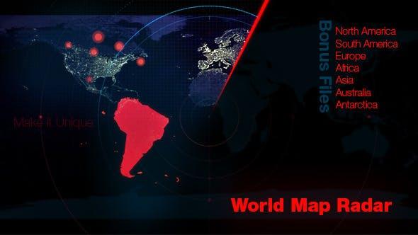 World Map Radar