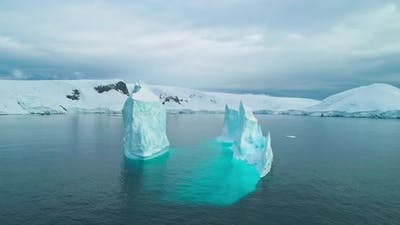 Iceberg at harbor